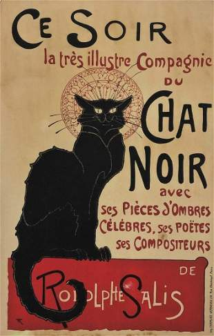 After Theopile Steinlen Chat Noir Ce Soir Poster
