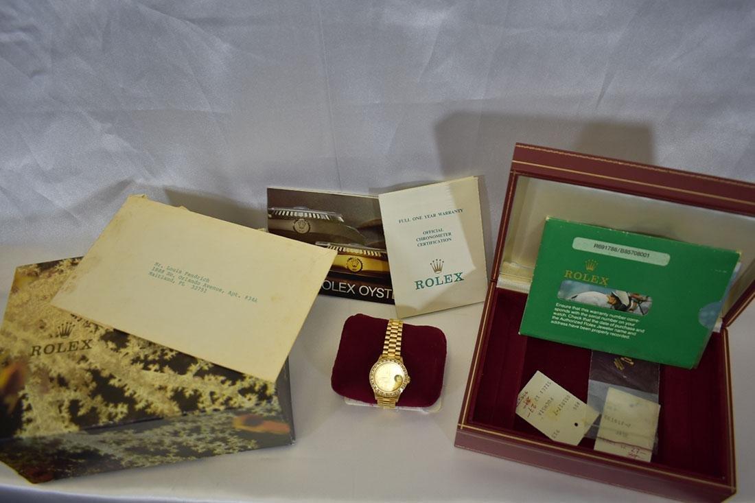 Ladies 18K Gold & Diamond Rolex