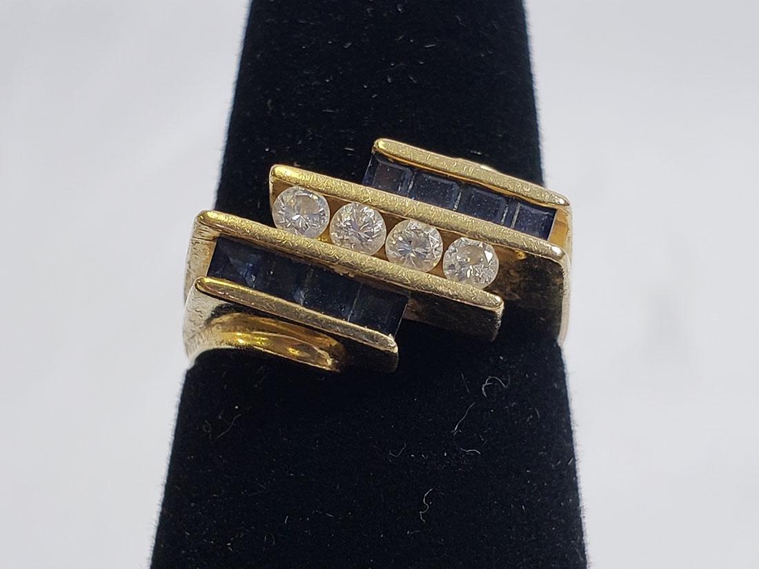 Estate Jewelry Lot (6) 14K Gemstone / Diamond Rings - 2