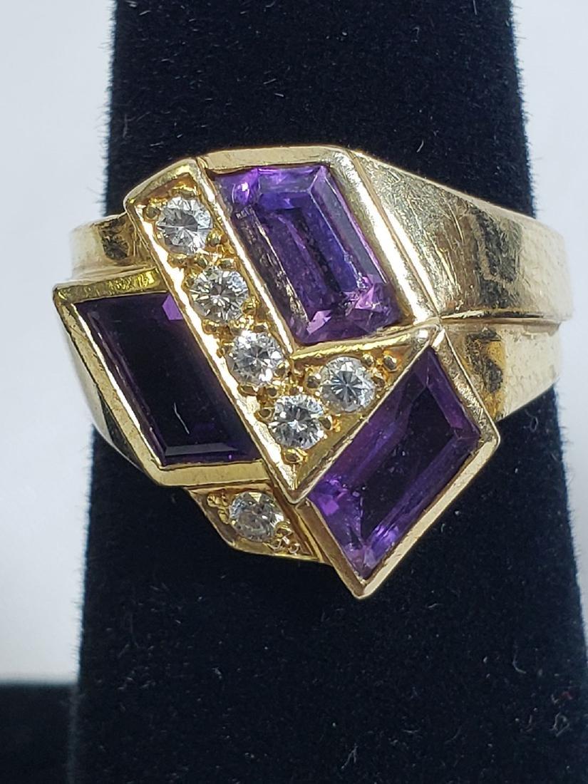 Estate Jewelry Lot (6) 14K Gemstone / Diamond Rings - 3