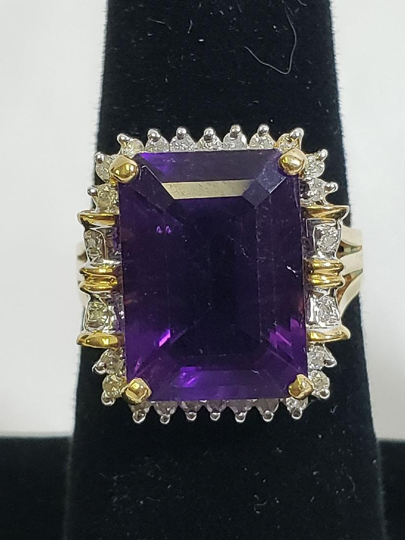 Estate Jewelry Lot (6) 14K Gemstone / Diamond Rings - 4