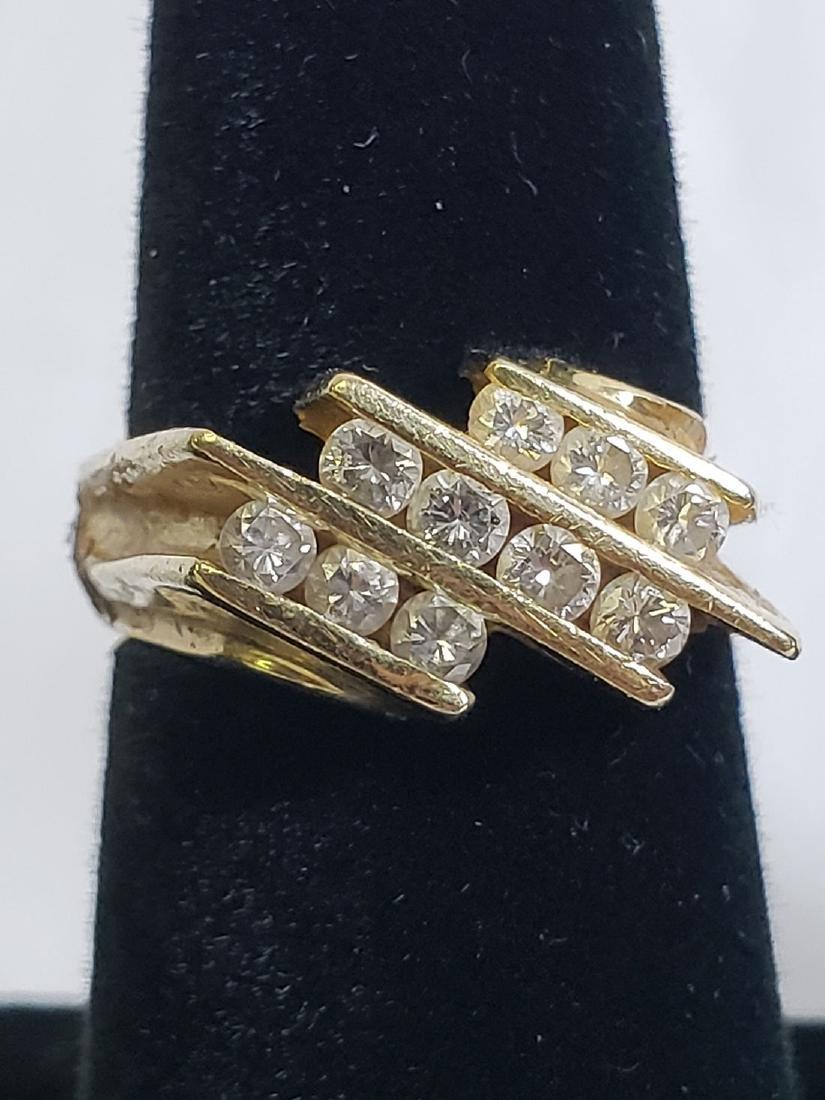 Estate Jewelry Lot (6) 14K Gemstone / Diamond Rings - 5