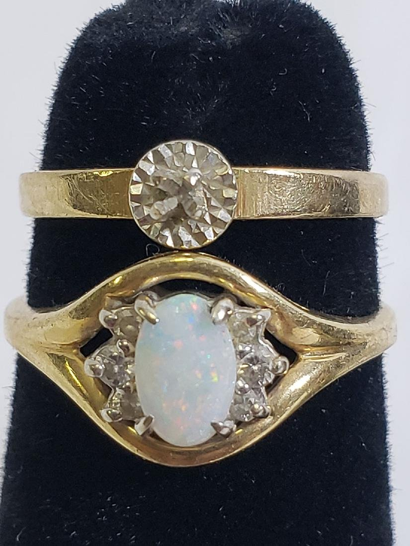 Estate Jewelry Lot (6) 14K Gemstone / Diamond Rings - 6