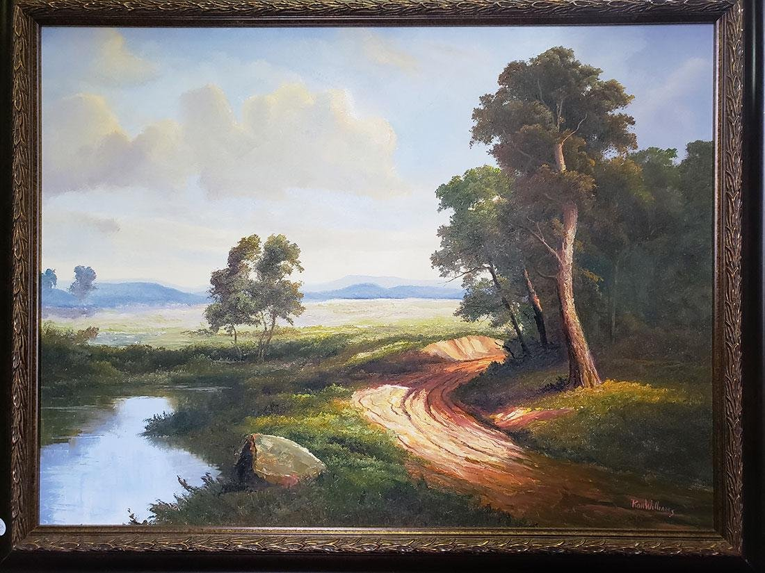 Ron Williams Oil on Canvas Landscape Painting