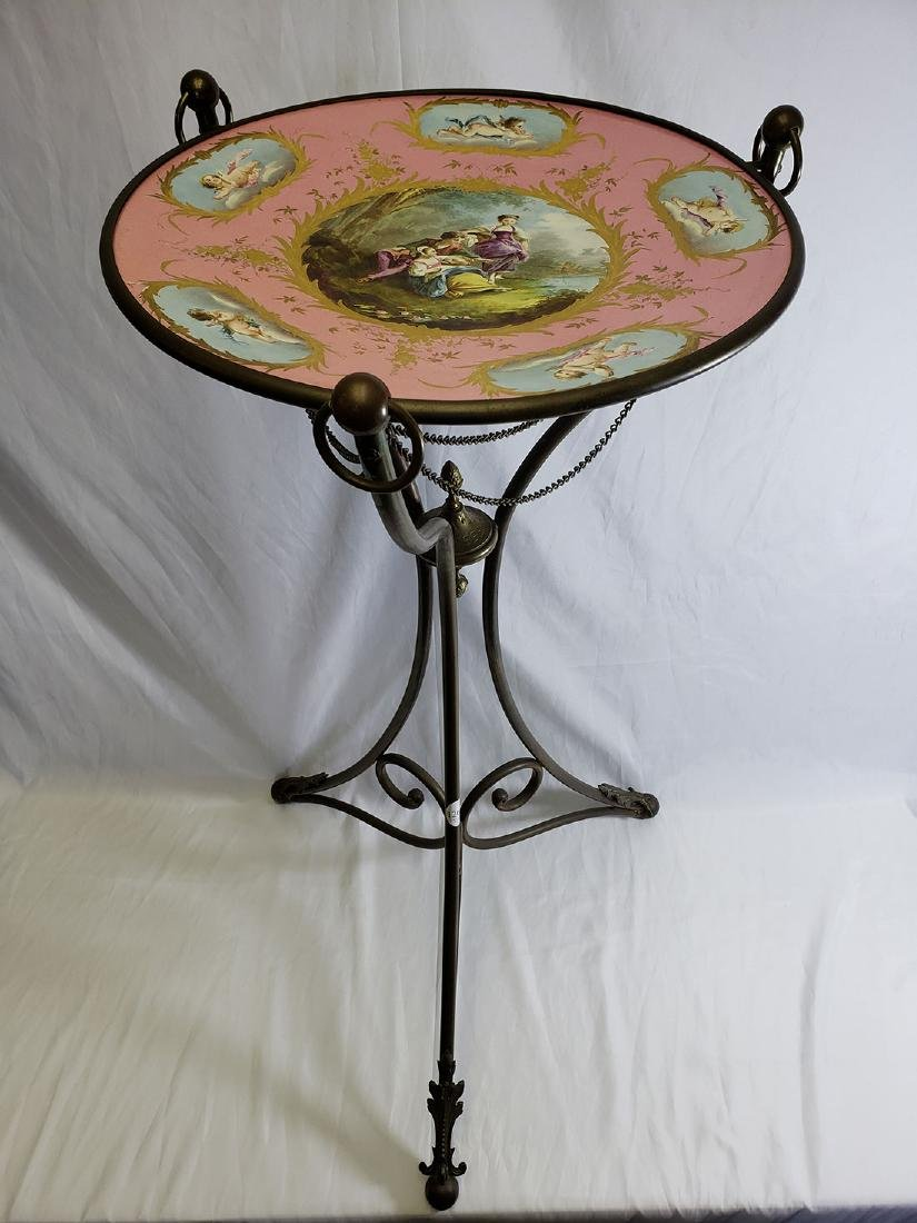 Fine Hand painted French Porcelain Bowl on Stand