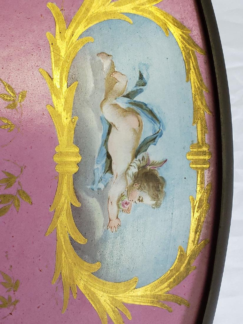 Fine Hand painted French Porcelain Bowl on Stand - 7