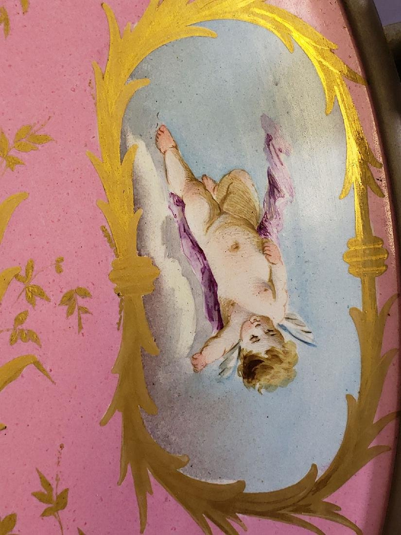 Fine Hand painted French Porcelain Bowl on Stand - 8