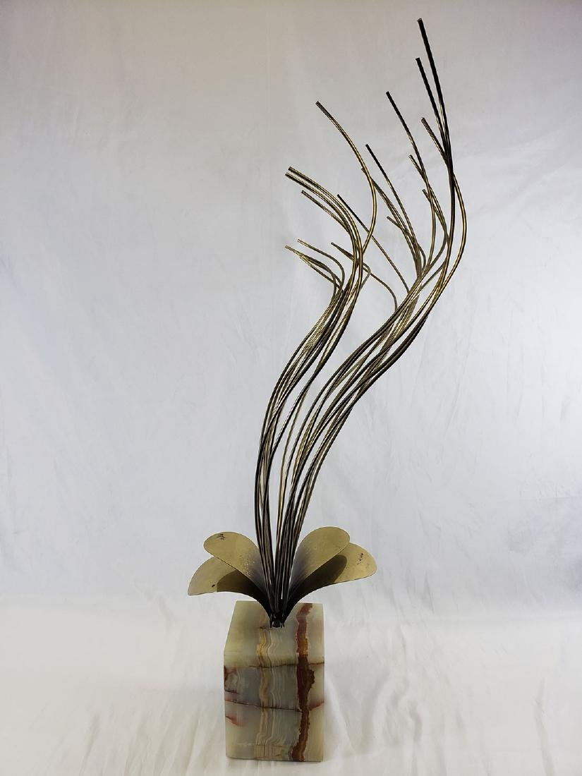 Curtis Jere' Brass Sculpture mounted on Onyx base