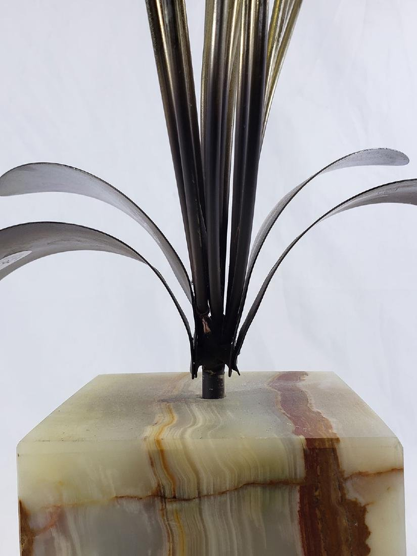 Curtis Jere' Brass Sculpture mounted on Onyx base - 5