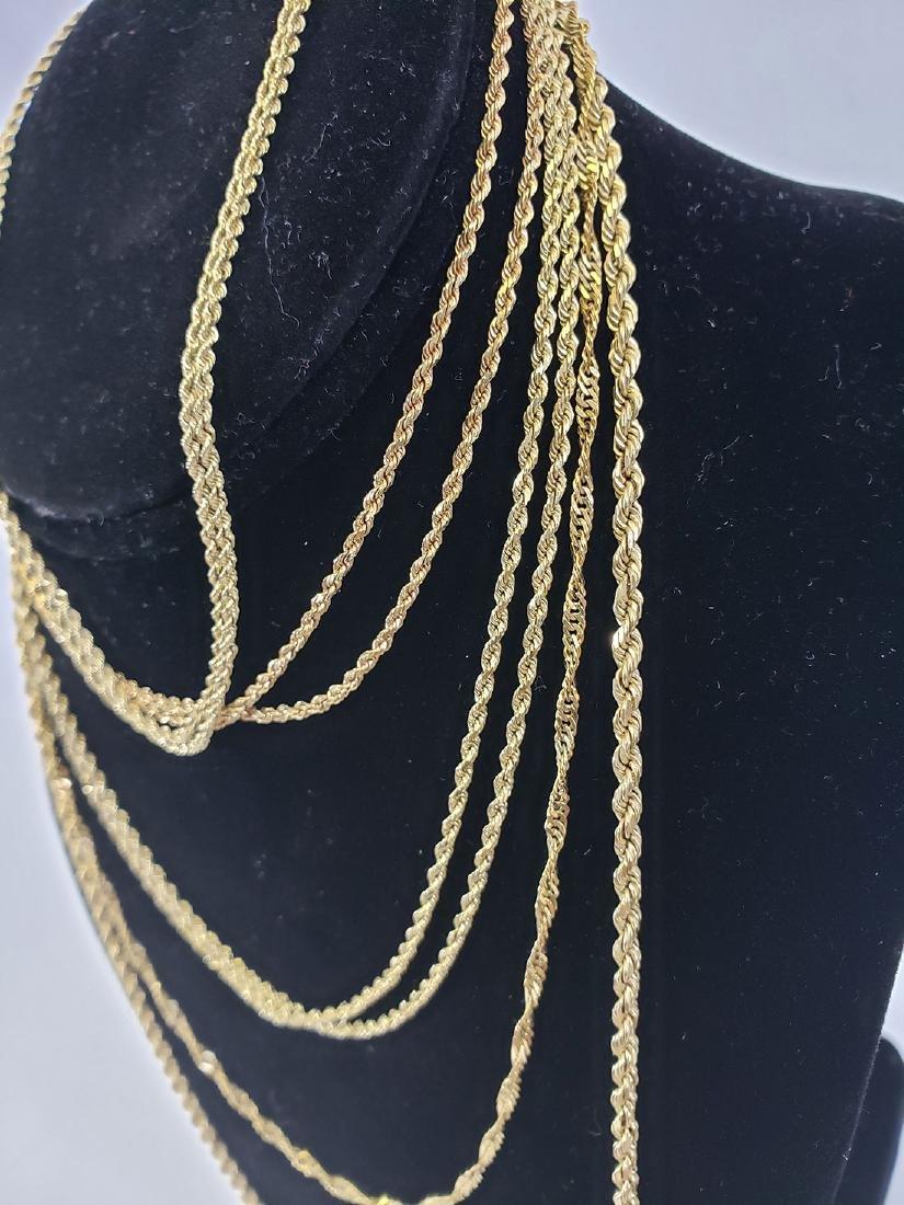 Estate Lot (5) 14K Gold  Necklaces - 2