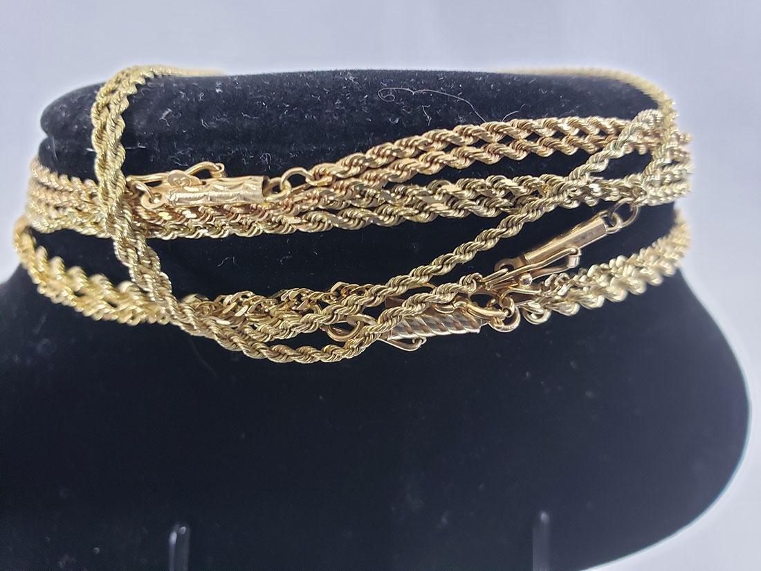 Estate Lot (5) 14K Gold  Necklaces - 3