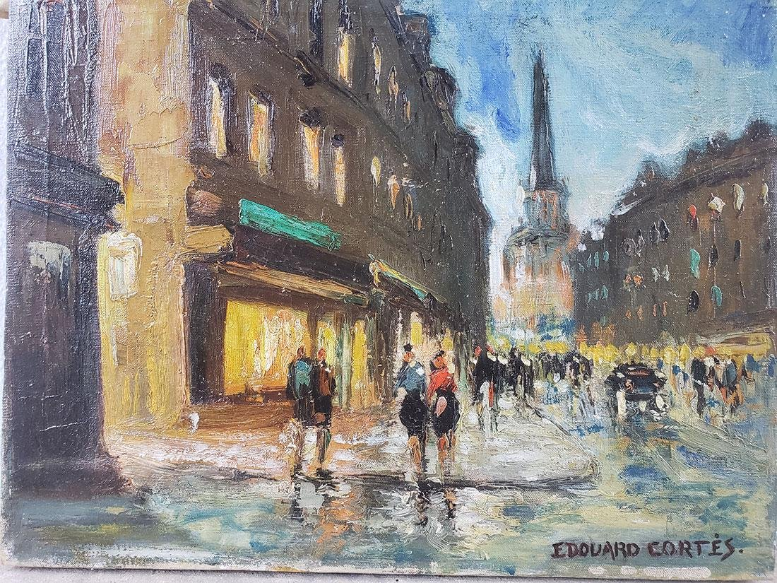 Edouard Cortes Oil on Canvas Painting, unframed