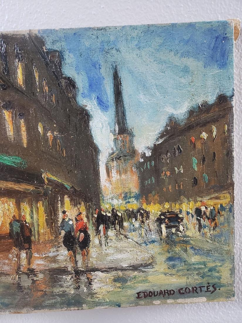 Edouard Cortes Oil on Canvas Painting, unframed - 4