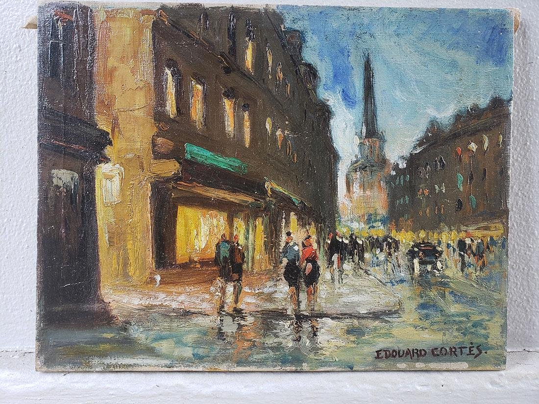 Edouard Cortes Oil on Canvas Painting, unframed - 7