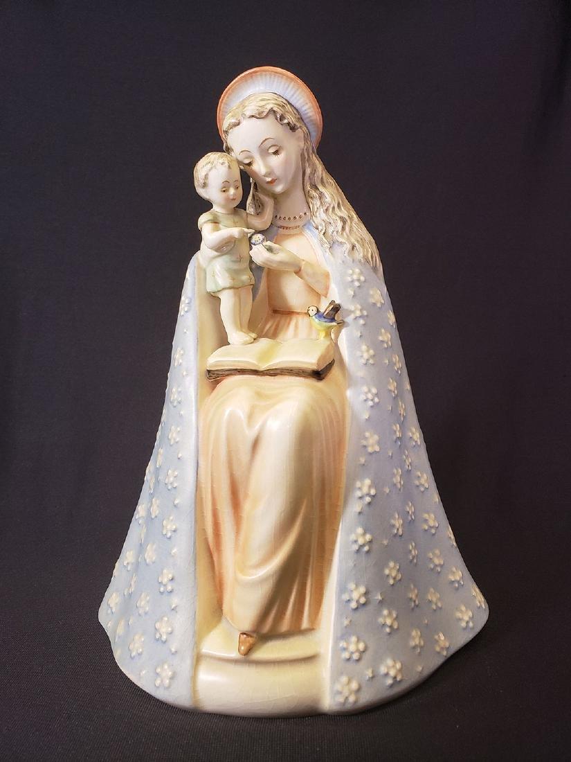 Large Madonna & Child Hummel Figurine Full Bee Mark