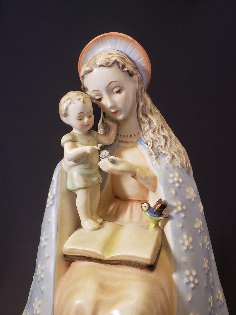 Large Madonna & Child Hummel Figurine Full Bee Mark - 2