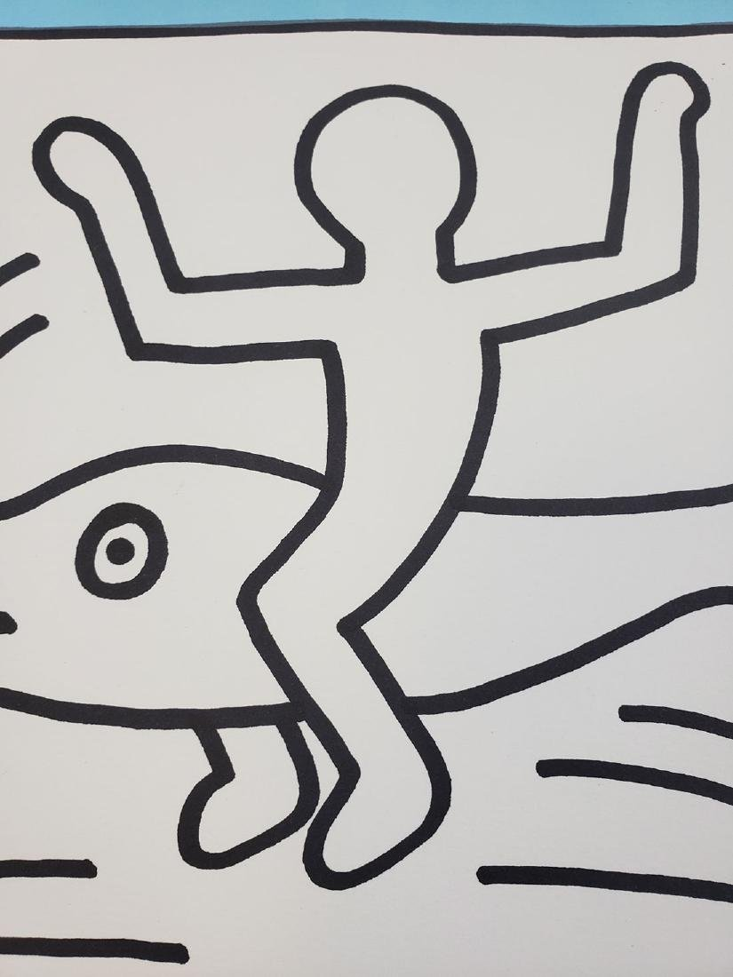 Contemporary Keith Haring - Magic Marker-Paper Dolphin - 3