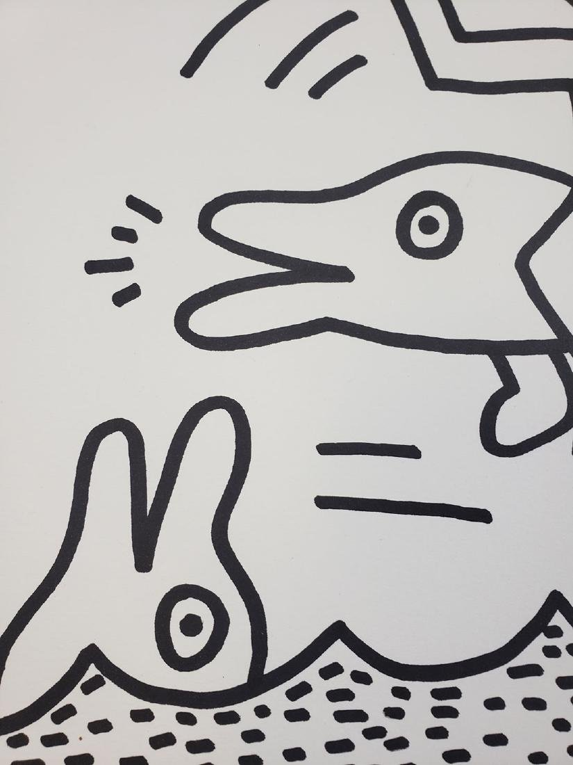 Contemporary Keith Haring - Magic Marker-Paper Dolphin - 4