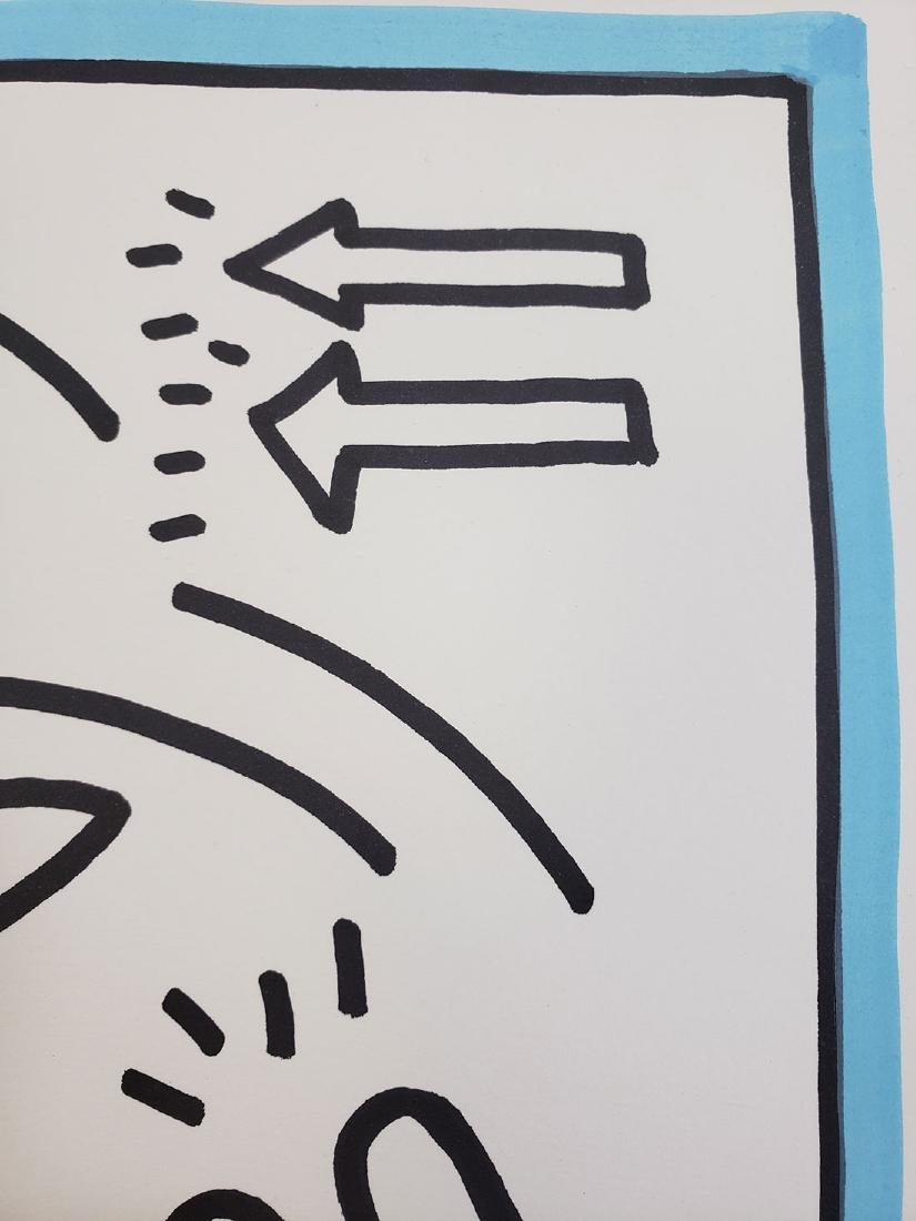Contemporary Keith Haring - Magic Marker-Paper Dolphin - 5
