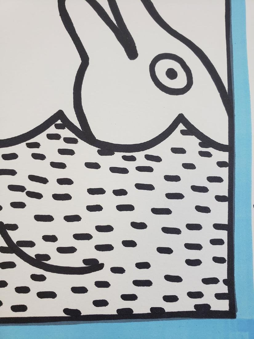 Contemporary Keith Haring - Magic Marker-Paper Dolphin - 6