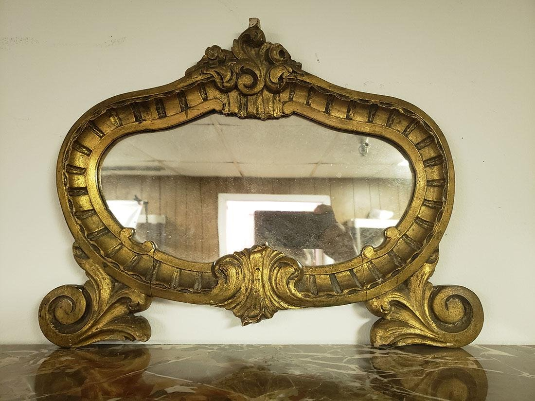 Pair of French Burled Walnut Chests / Marble top/Mirror - 6