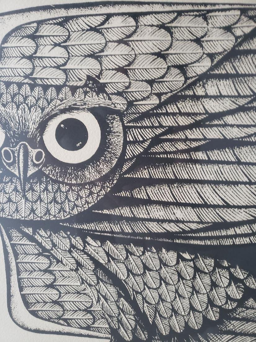 Eugene Ames Baker Owl Lithograph, signed & numbered - 10