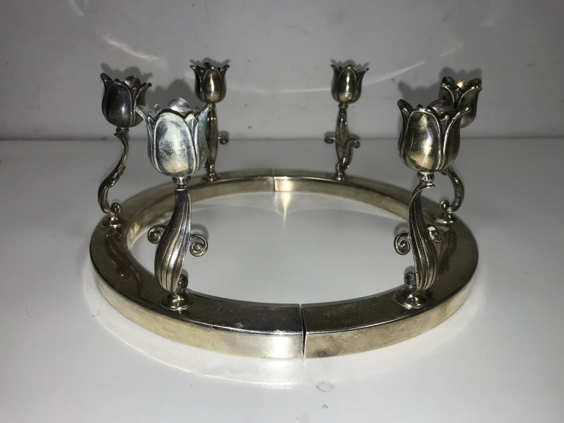Georg Jensen Sterling Tulip Candle Holders - 5