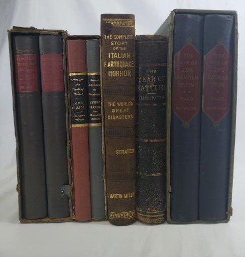Estate Book Lot - Italian Earthquake, 1909, War, Battle
