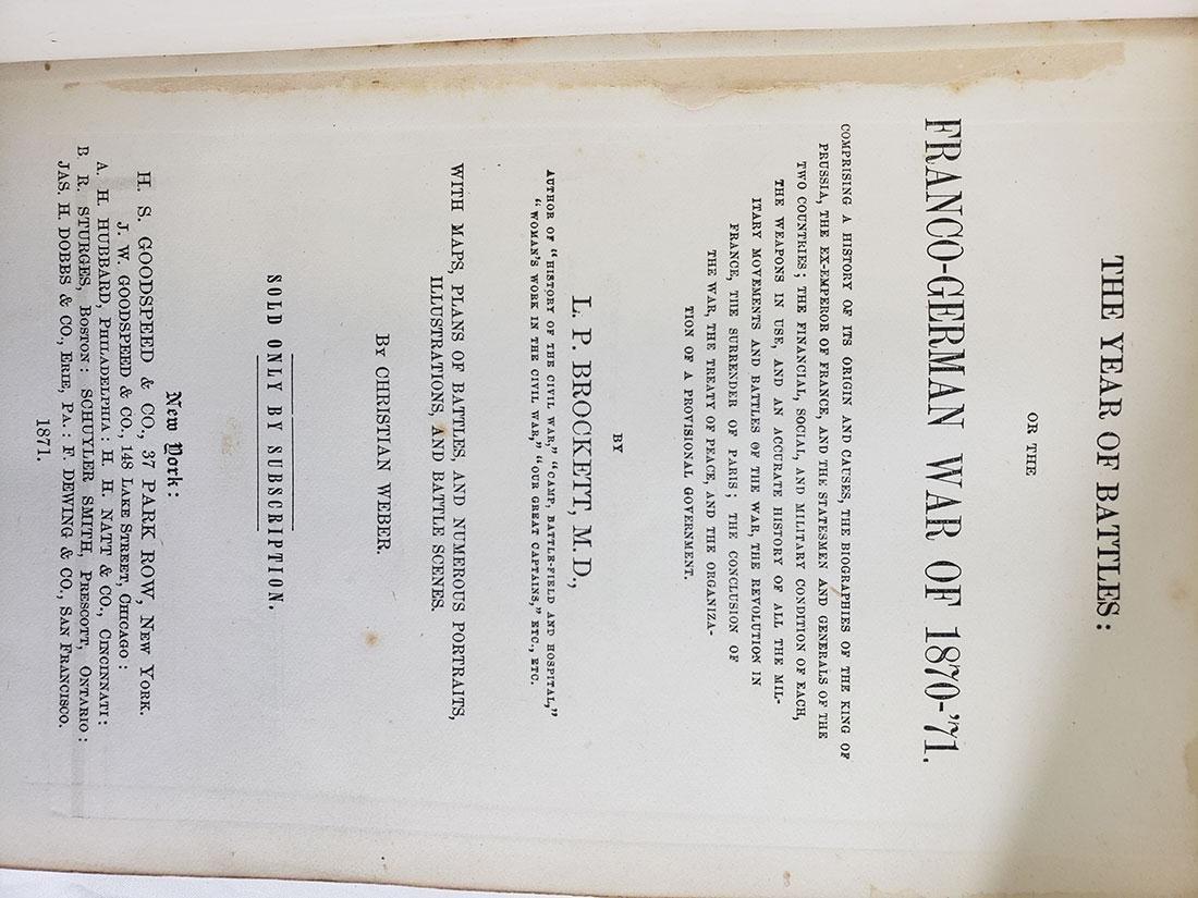 Estate Book Lot - Italian Earthquake, 1909, War, Battle - 7