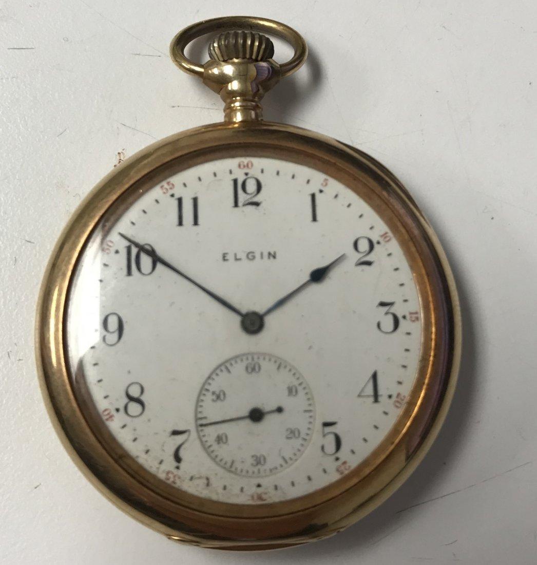 Elgin 14K Gold Pocket Watch - 23 Jewel