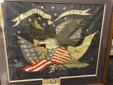 Japanese Embroidered US American Eagle Nagasaki panel