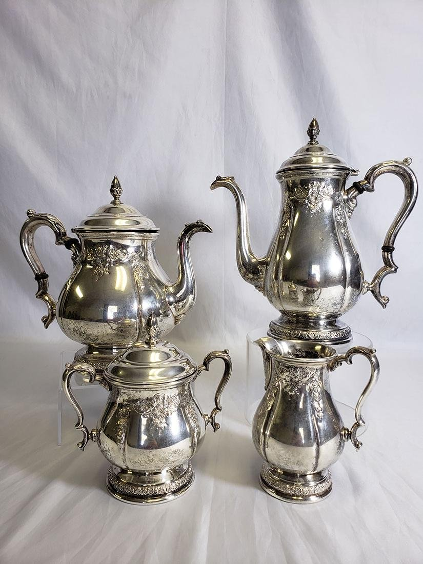 4pc International Prelude Sterling Coffee and Tea Set