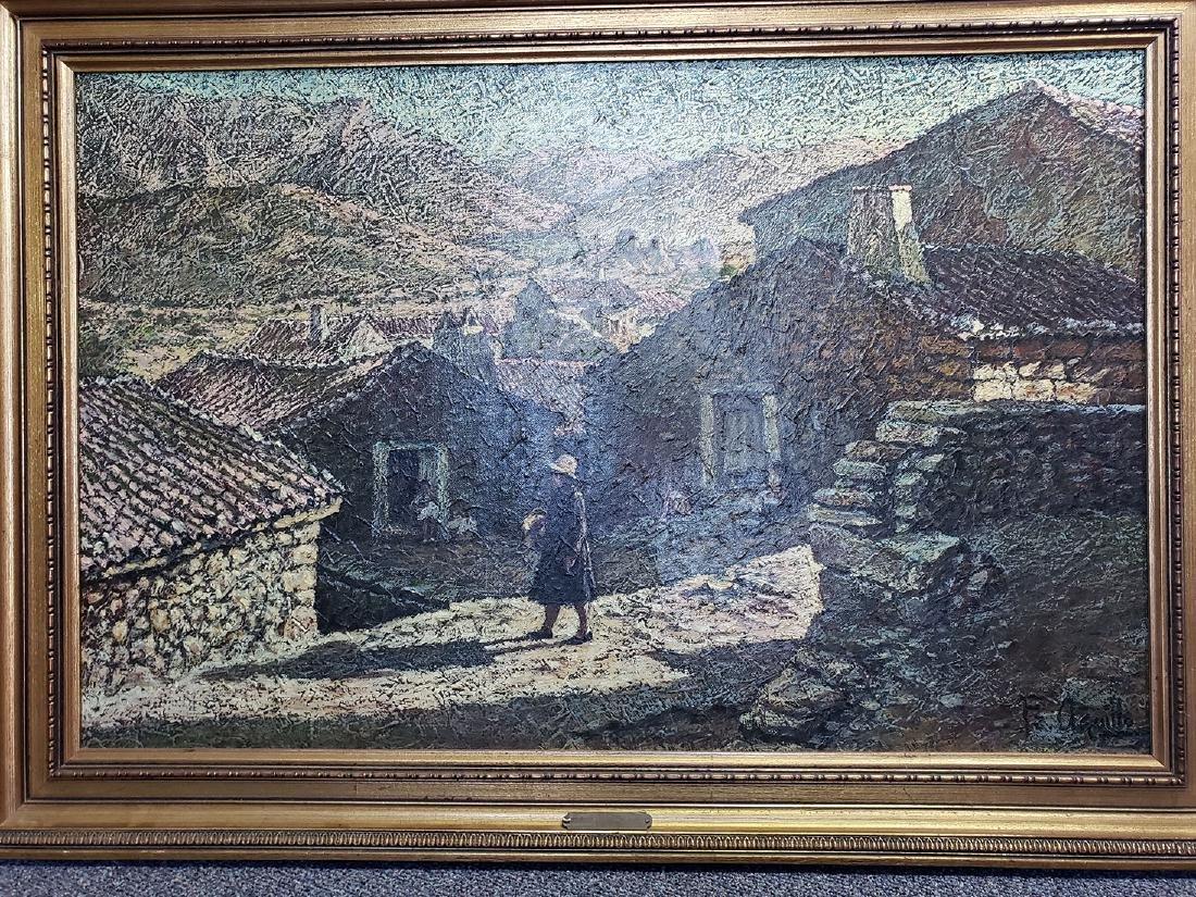 Oil on Canvas Jose Maria Fernandez Aguillo 1970