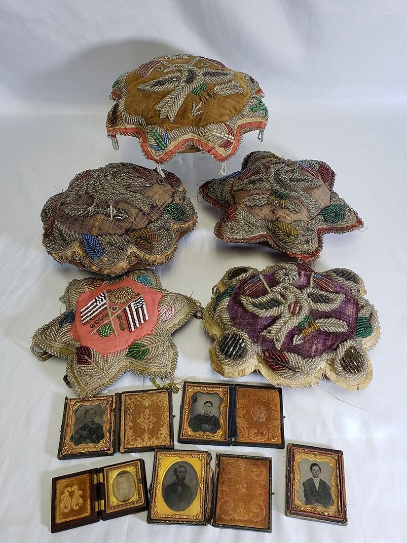 Civil War Era Pillows, Tin Types