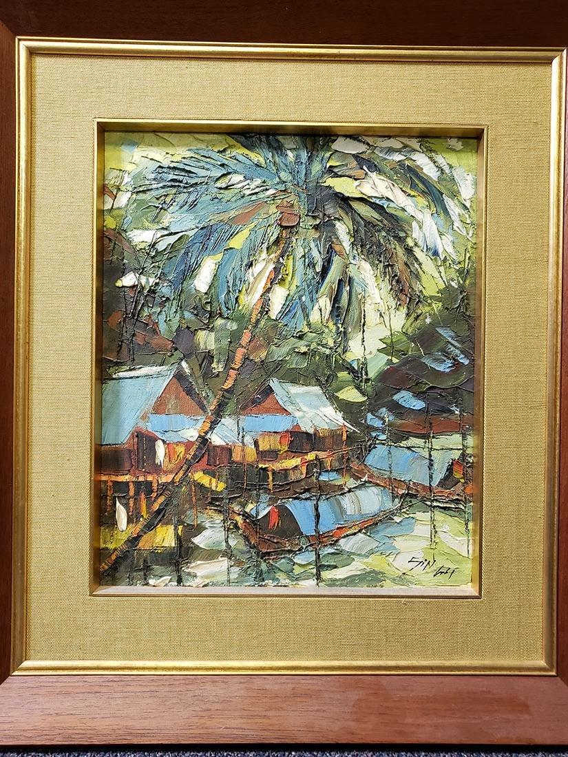 Oil on Board Sujarit Hirankul Painting