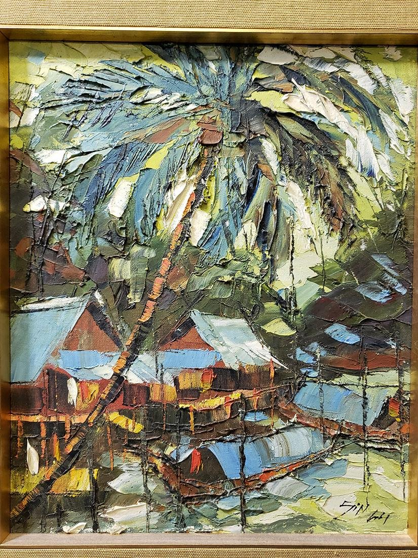 Oil on Board Sujarit Hirankul Painting - 2