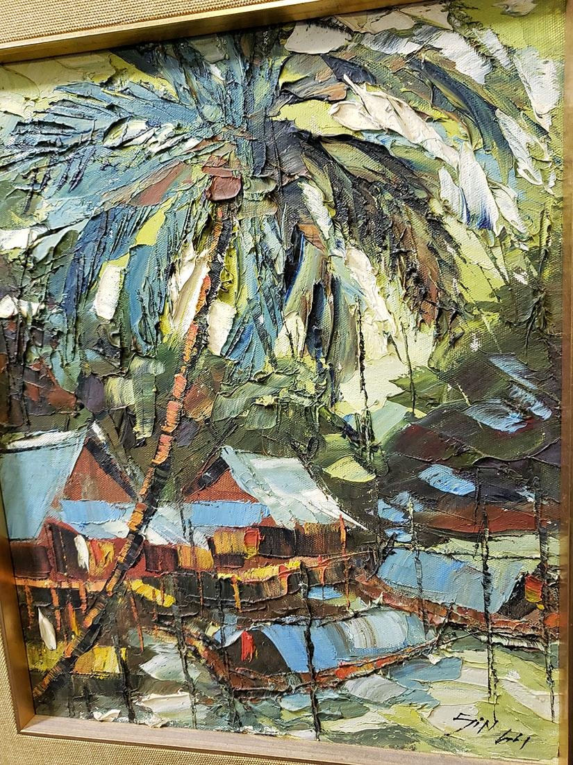 Oil on Board Sujarit Hirankul Painting - 4