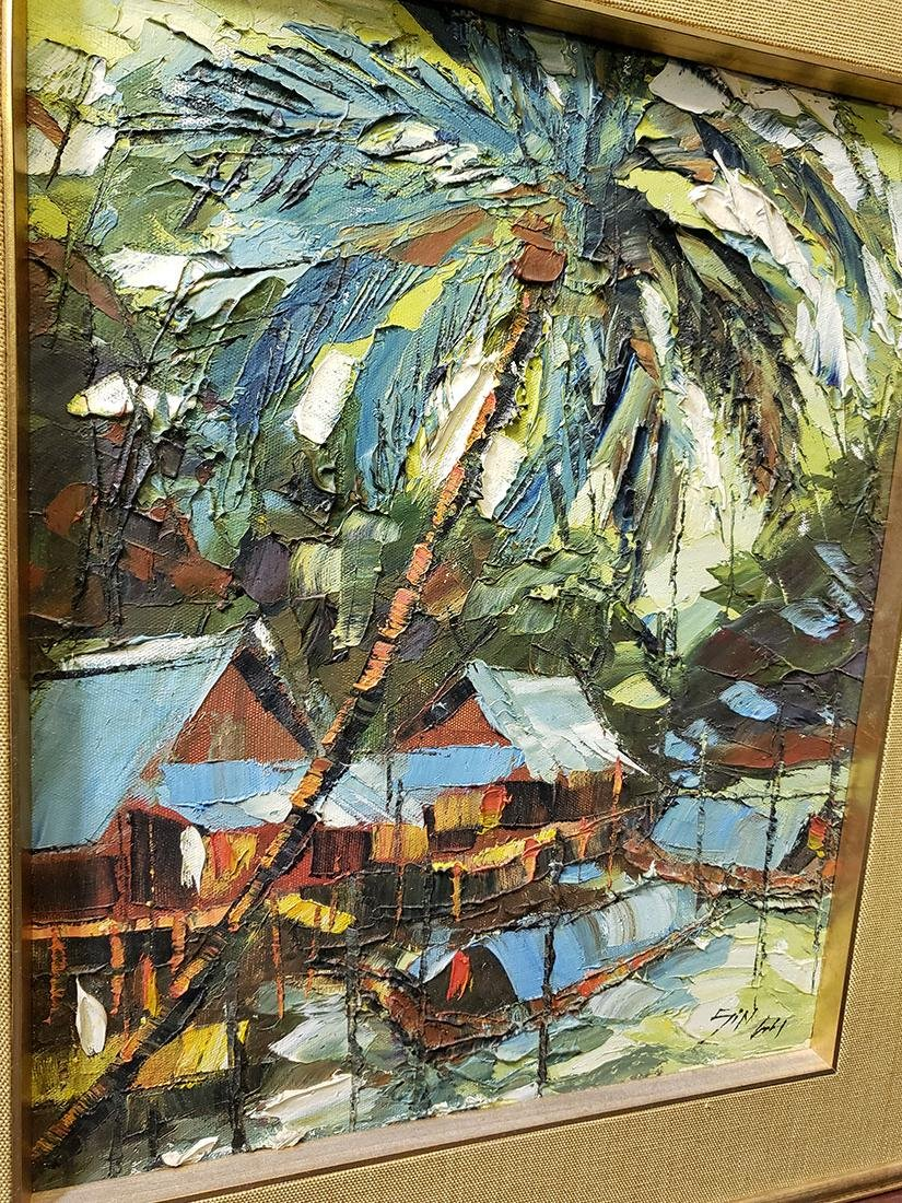 Oil on Board Sujarit Hirankul Painting - 5