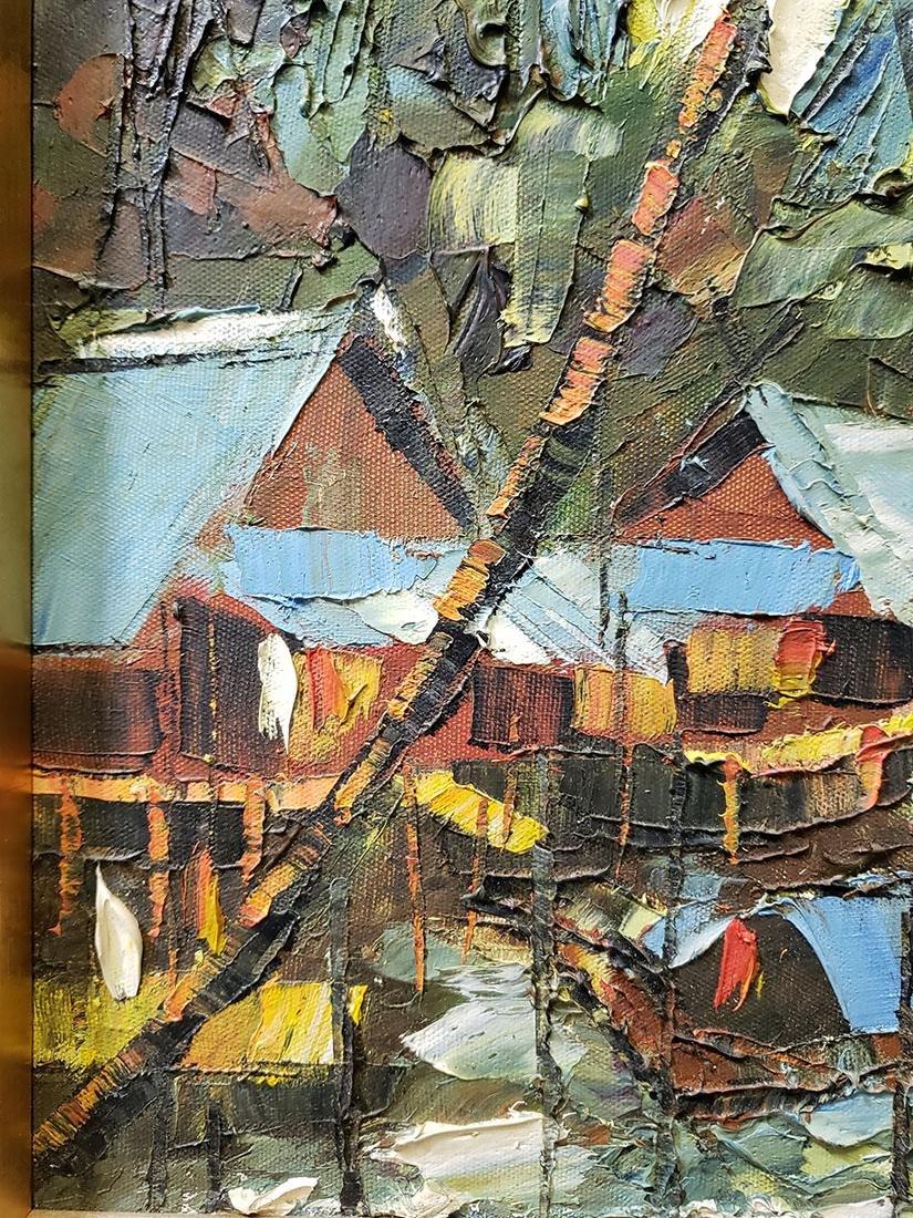 Oil on Board Sujarit Hirankul Painting - 7