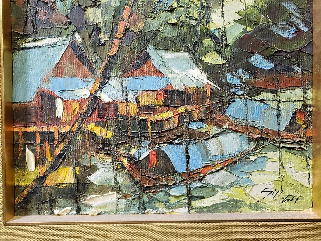 Oil on Board Sujarit Hirankul Painting - 8