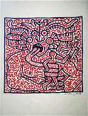POP ART, Man and Medusa by Keith Haring 1984