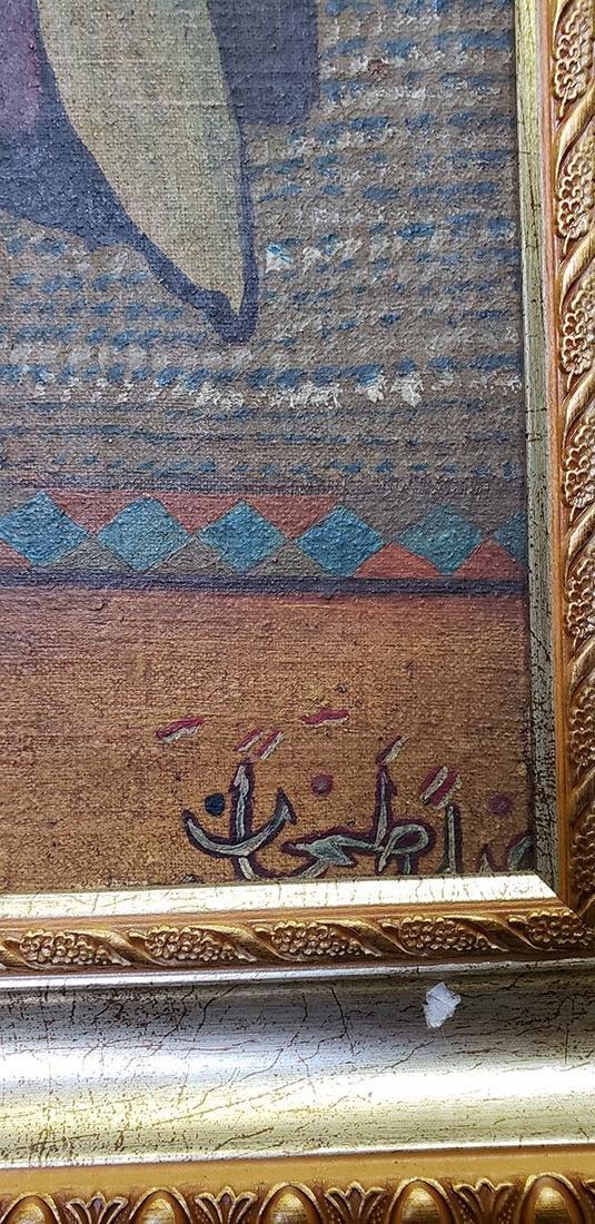 Oil on Canvas Orientalist Painting Middle Eastern Scene - 2