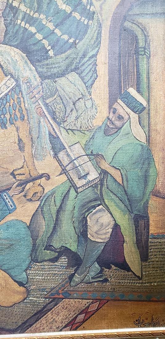Oil on Canvas Orientalist Painting Middle Eastern Scene - 3