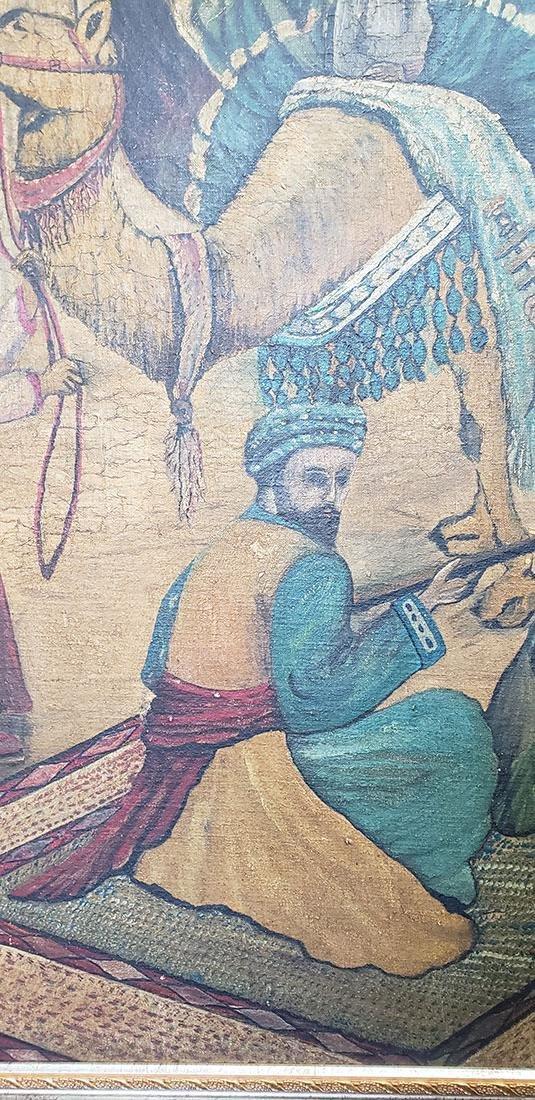 Oil on Canvas Orientalist Painting Middle Eastern Scene - 4