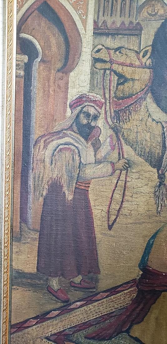 Oil on Canvas Orientalist Painting Middle Eastern Scene - 5