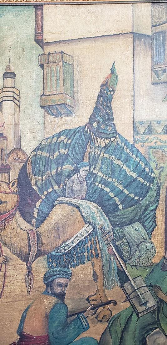 Oil on Canvas Orientalist Painting Middle Eastern Scene - 6
