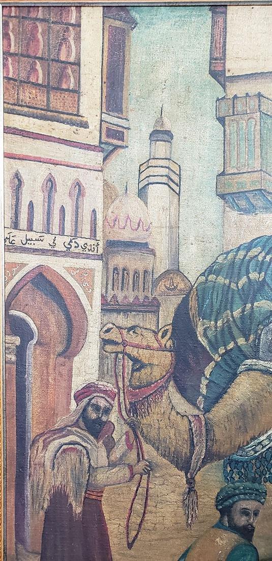 Oil on Canvas Orientalist Painting Middle Eastern Scene - 7