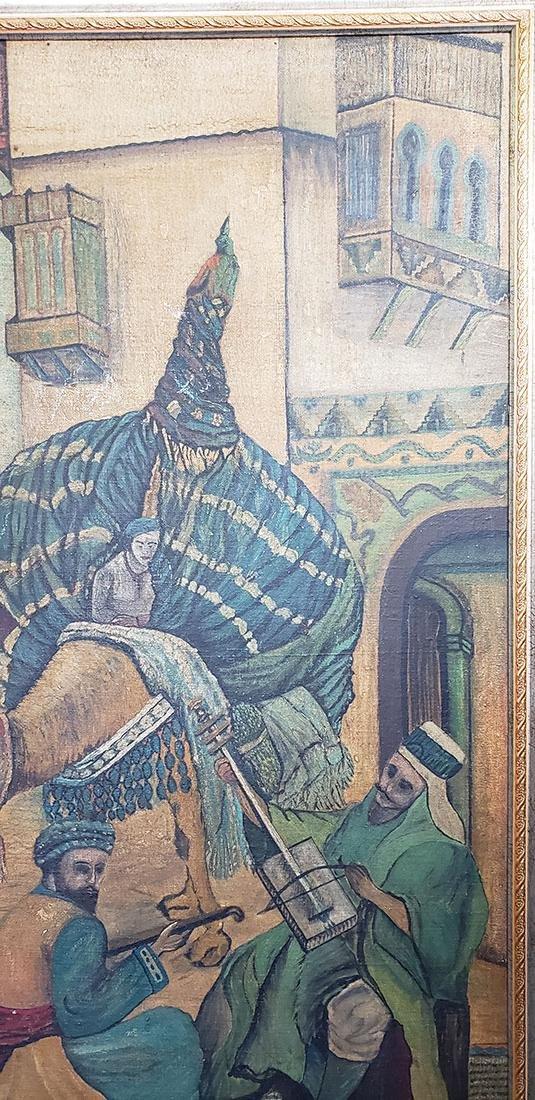 Oil on Canvas Orientalist Painting Middle Eastern Scene - 8