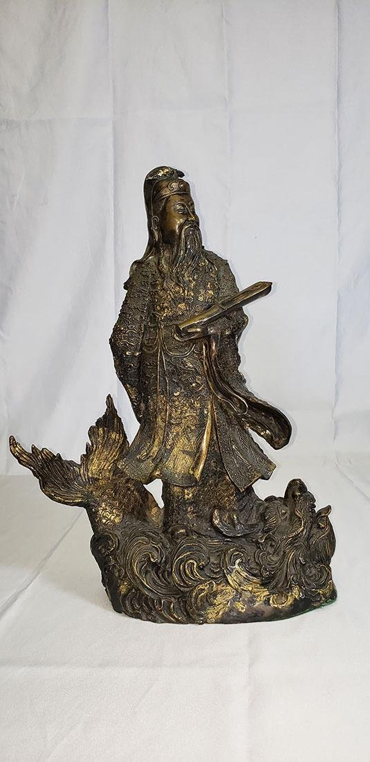 20th Century Chinese bronze figure