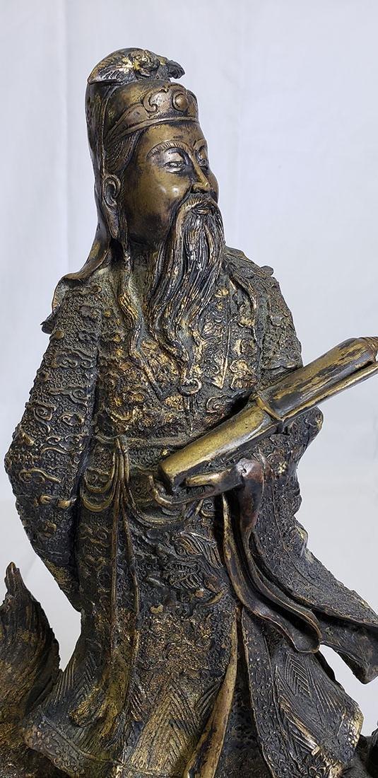 20th Century Chinese bronze figure - 2